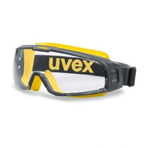 Apsauginiai akiniai Uvex U-Sonic; Supravision extreme; skaidrūs; geltoni/pilki