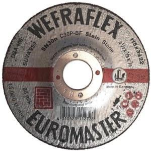 Abrazyvinis pjovimo diskas Wefra; 115x3x22 mm; akmeniui