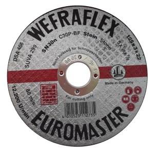 Abrazyvinis pjovimo diskas Wefra; 125x3x22 mm; akmeniui