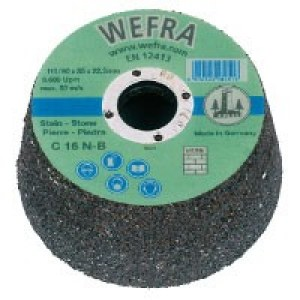 Šlifavimo puodelis Wefra; Ø90-110 mm; C 16 N; P16