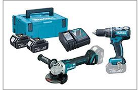 Akumuliatorinių įrankių rinkiniai