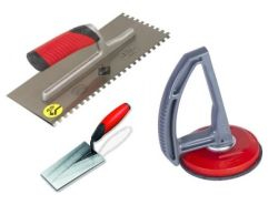 Mechaniniai įrankiai plytelių klojimui